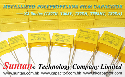 Suntan's Metallized Polypropylene Film Capacitor – X2 Series