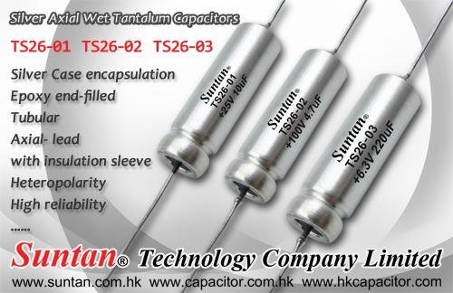 Suntan Has Launched a New Tantalum Series -  Silver Axial Wet Tantalum Capacitors