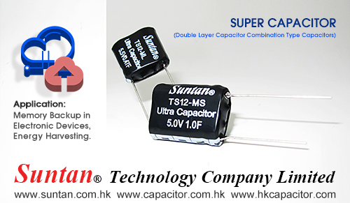 Suntan Combined Type Super Farad Capacitor for Low Internal Resistance and High Current
