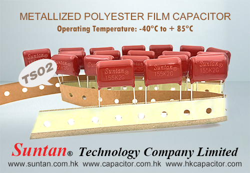 Suntan METALLIZED POLYESTER FILM Capacitor TS02 Series