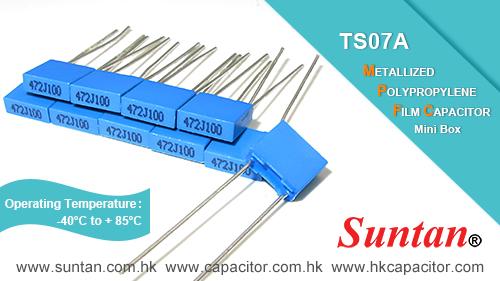 Suntan TS07A Metallized Polypropylene Film Capacitor - Mini Box