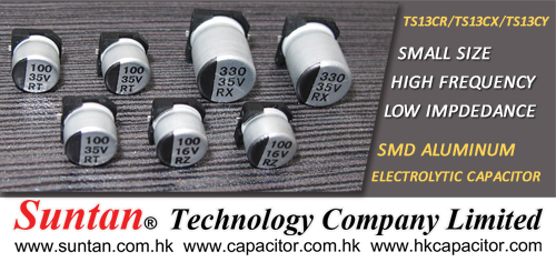Suntan Newly Developed Three SMD Electrolytic Capacitor