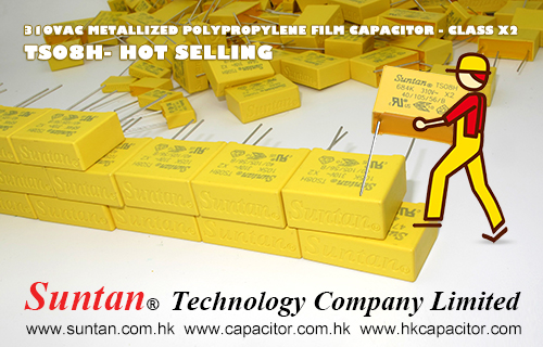 Suntan Hot Selling- TS08H 310VAC Metallized Polypropylene Film Capacitor – Class X2