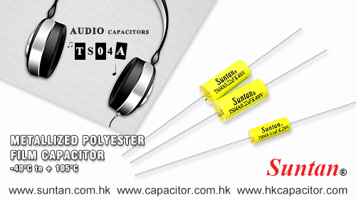 Suntan TS04A Metallized Polyester Film Capacitor - Axial