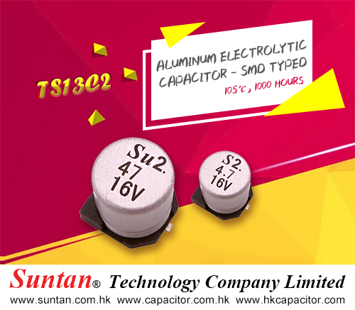 Suntan'TS13C2 Surface Mount Aluminum Electrolytic Capacitors