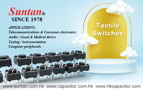 Suntan Tactile Switches Applications