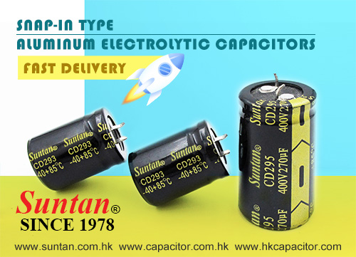 Suntan SNAP-IN Electrolytic Capacitor with Competitive Prices, Short Lead Time